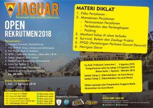 Pendaftaran Jaguar 2018