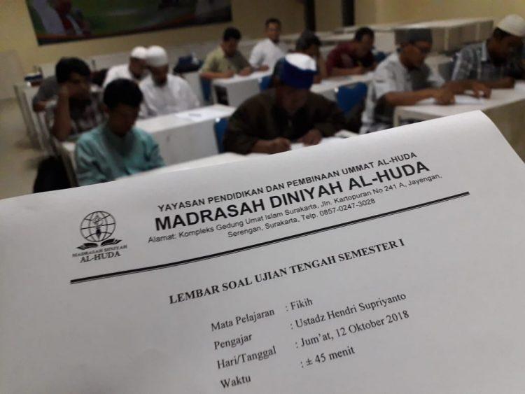 Ujian Tengah Semester Gasal Madrasah Diniyah AL-Huda 2018